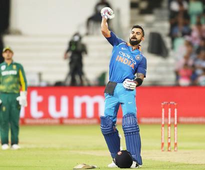 PHOTOS: Kohli hits ton as India easily beat SA in Durban ODI