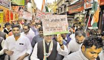 Note ban: In MP, Cong protests against mismanagement