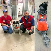 Lowe's Hires Man And His Service Dog, Outfits Them With Matching Vests