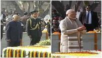 President Ram Nath Kovind, PM Modi pay floral tribute to Mahatma Gandhi