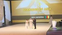 Hayatou decorated with prestigious 'Diamond of Asia' award