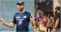 Unable To Break Into Mumbai Indians XI Martin Guptill Plays Cricket With Dharavi Slum Kids