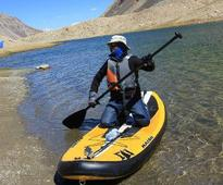 I am the first one to paddle in Nubra Valley, near Khardung La, says Chennaiite