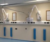 White aluminium trunking does Sterling job for hospital