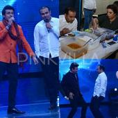 Virender Sehwag had a ball of a time with Sonu Nigam, Farah Khan and Anu Malik on the sets of Indian Idol 9!