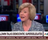 Dem Sen Tammy Baldwin: My Super Delegate Vote Will Go in Line With the U.S. Popular Vote