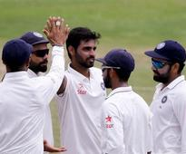 3rd Test: India eye declaration after Bhuvi's five
