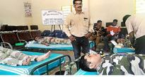 CISF personnel donate blood