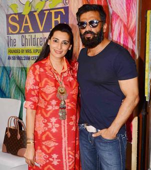 PIX: Suniel-Mana Shetty host charity event; Mandira, Madhoo attend