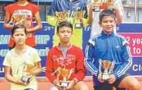 U 12 AITA Ranking Tennis Rahul, Shweta win boy's, girl's title