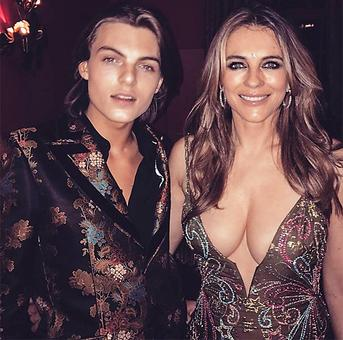 'Cover up you're a mum': Liz Hurley trolled for revealing dress