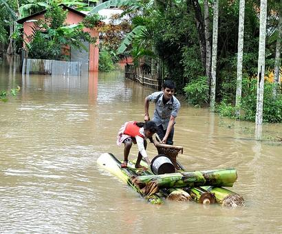 Train services to flood-hit northeast stopped, may resume tomorrow