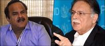 PTI's Haq 'bumps' into Pervez Rasheed -- Motorway diplomacy or what?