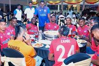 Footballers join newspaper vendors association's 52nd annual dinner
