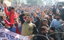 MGNREGA employees protest, submit memorandum to Governor