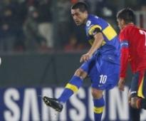 Riquelme leads Boca to Libertadores quarterfinals