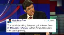 People can't stop joking about Arnab Goswami's feeble voice while interviewing PM Modi