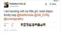 Man gets trolled for asking Indian Railways, Suresh Prabhu to provide diaper for child