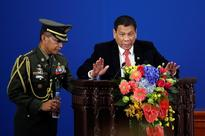 The Philippines' president announced his 'separation' from the US with an impression of 'loud ... rowdy' Americans