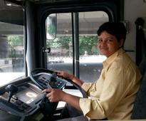 At the Wheel With Delhi's Lone Woman Bus Driver