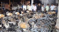 Showroom gutted in Bidar, around 100 bikes destroyed