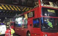 Five injured in London double-decker crash