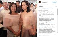 LOOK: Kris Aquino poses with VP Leni Robredo, daughters