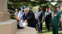 President Mukherjee pays respect to 'unknown' Indian soldiers of WW II