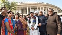 Rajya Sabha: Four new members, three from AAP one from BJP, take oath