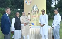 PM unveils BRICS U-17 Football Trophy