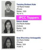 Ipcc toppers of may 2016 examination
