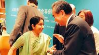 New York: Sushma Swaraj meets Chinese Foreign Minister on sidelines of SCO meeting