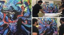 Watch: Kaal director Soham Shah gifts Ajay Devgn handmade Lord Shiva painting