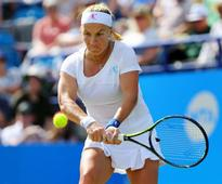 Top-seed Svetlana Kuznetsova has to battle to advance in J&T Banka Prague Open