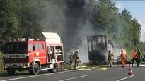 Berlin: 18 killed after tour bus bursts into flames after colliding with lorry