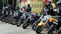 Harley, Ninja vroom on Kozhikode roads