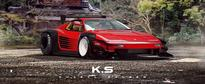 Ferrari Testarossa Gets Time Attack Aero and Troublesome Wing in Trolling Render