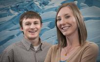 Alexander Michaud (left) and Trista Vick-Majors of Montana State University.