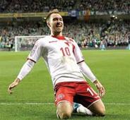 Eriksen's hat-trick propels Denmark to finals berth