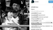 Shah Rukh Khan, Abram sport matching tattoos in this awwdorable pic!