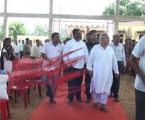 Chair hurled at minister Sanjay Dasburma at college function