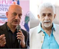 Nasseruddin Shah denies snubbing Anupam Kher on Kashmiri Pandit issue