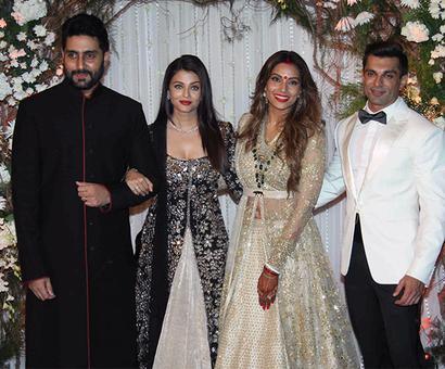 PIX: Abhi-Aish, Salman, SRK at Bipasha-Karan's wedding reception