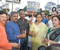 Citizens and BJP workers take out Candle March in Connaught Place demanding justice to Soni