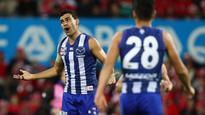 Sydney v North Melbourne: Dermott Brereton hits out at Lindsay Thomas and stars 'milking' free kicks