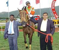 C.V.G.K.Kishore saddles a Double