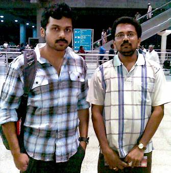 Spotted: Tamil actor Karthi at Hyderabad airport