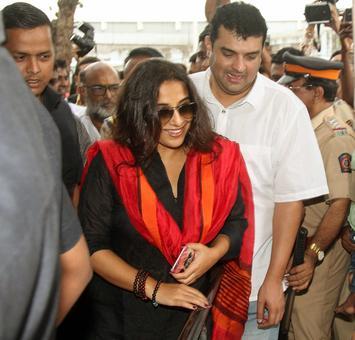 PIX: Vidya Balan, family watch Kabali