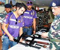 IPL PICS: Gauti, Yusuf, Lee at CRPF Camp