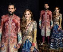 Pics: Team India at Yuvraj-Hazel's reception